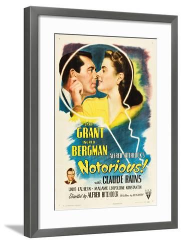 NOTORIOUS, Cary Grant, Ingrid Bergman, Claude Rains, 1946--Framed Art Print