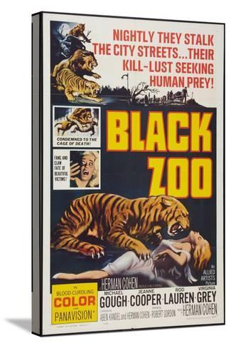 Black Zoo, poster art, 1963--Stretched Canvas Print