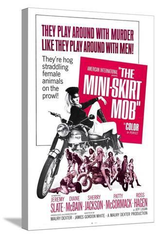 THE MINI-SKIRT MOB, Diane McBain (on motorcycle), 1968--Stretched Canvas Print