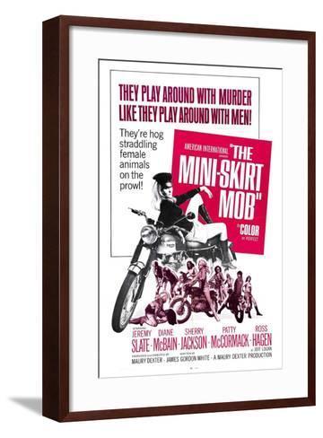 THE MINI-SKIRT MOB, Diane McBain (on motorcycle), 1968--Framed Art Print