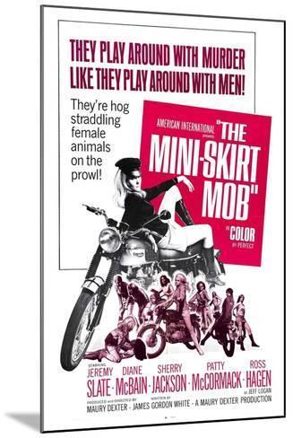 THE MINI-SKIRT MOB, Diane McBain (on motorcycle), 1968--Mounted Art Print