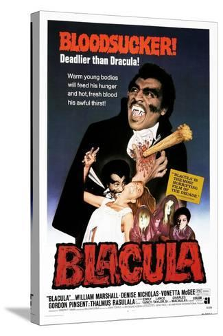 Blacula, US poster, William Marshall, 1972--Stretched Canvas Print