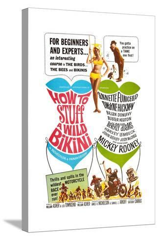 How to Stuff a Wild Bikini, Mary Hughes; Mickey Rooney, 1965--Stretched Canvas Print