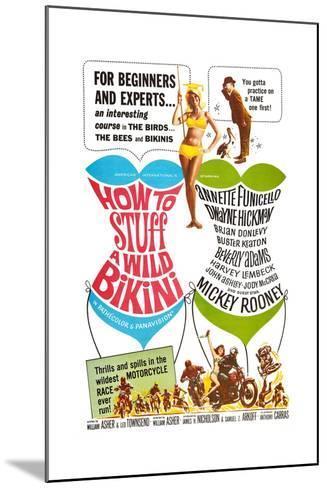 How to Stuff a Wild Bikini, Mary Hughes; Mickey Rooney, 1965--Mounted Art Print