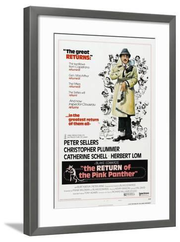 The Return of the Pink Panther, US poster, Peter Sellers, 1975--Framed Art Print