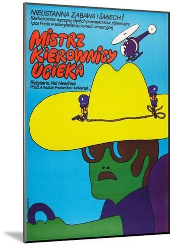 SMOKEY AND THE BANDIT, (aka MISTRZ KIEROWNICY UCIEKA), Polish poster, 1977--Mounted Art Print
