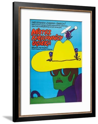 SMOKEY AND THE BANDIT, (aka MISTRZ KIEROWNICY UCIEKA), Polish poster, 1977--Framed Art Print