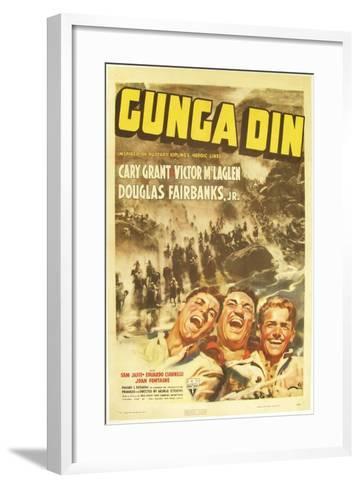 Gunga Din, Cary Grant, Victor McLaglen, Douglas Fairbanks Jr., 1939, poster art--Framed Art Print