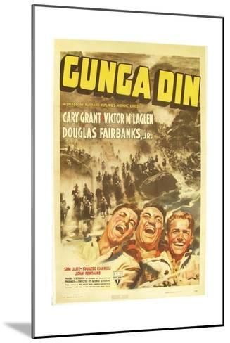 Gunga Din, Cary Grant, Victor McLaglen, Douglas Fairbanks Jr., 1939, poster art--Mounted Art Print