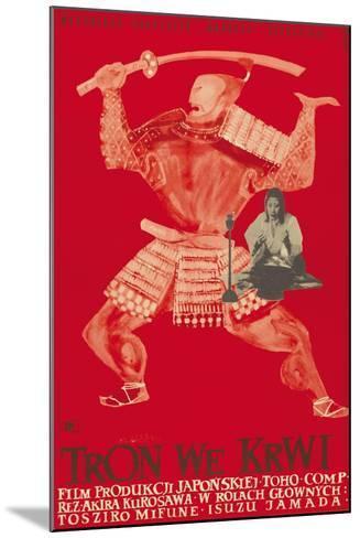 Throne of Blood (aka Tron we Krwi), Isuzu Yamada, Polish poster art, 1957--Mounted Art Print