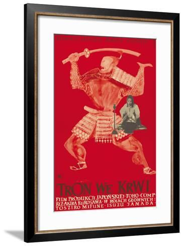 Throne of Blood (aka Tron we Krwi), Isuzu Yamada, Polish poster art, 1957--Framed Art Print