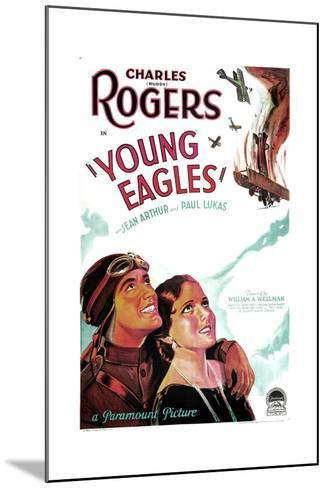 YOUNG EAGLES, US poster art, from left: Charles 'Buddy' Rogers, Jean Arthur, 1930--Mounted Art Print
