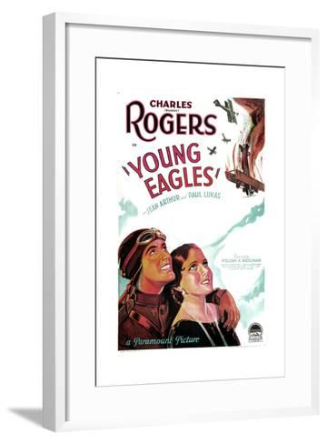 YOUNG EAGLES, US poster art, from left: Charles 'Buddy' Rogers, Jean Arthur, 1930--Framed Art Print