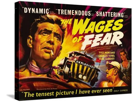 The Wages of Fear, Yves Montand, Charles Vanel, Vera Clouzot, 1955--Stretched Canvas Print
