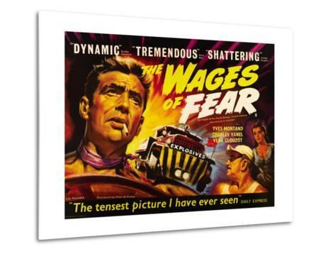 The Wages of Fear, Yves Montand, Charles Vanel, Vera Clouzot, 1955--Metal Print