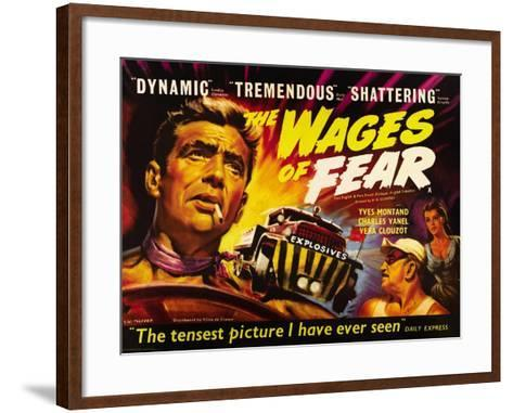The Wages of Fear, Yves Montand, Charles Vanel, Vera Clouzot, 1955--Framed Art Print