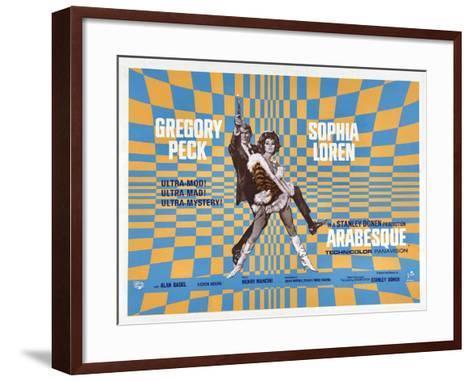 Arabesque, Gregory Peck, Sophia Loren, 1966--Framed Art Print