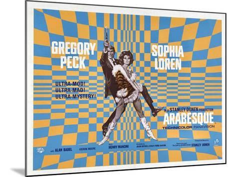 Arabesque, Gregory Peck, Sophia Loren, 1966--Mounted Art Print
