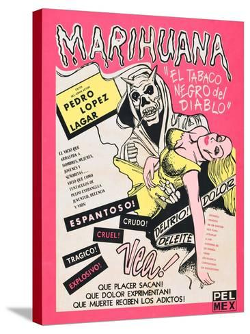 Marihuana, (aka Marihuana Story), Mexican poster art, 1950--Stretched Canvas Print