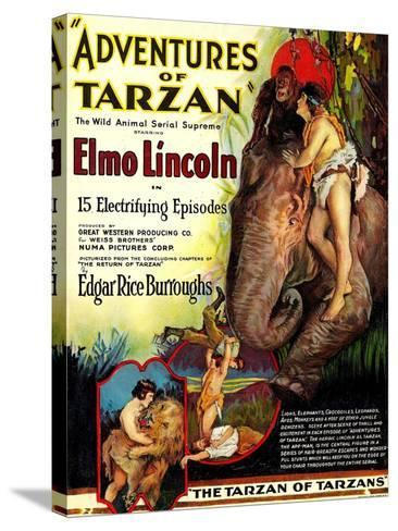 Adventures of Tarzan, Elmo Lincoln, 1921--Stretched Canvas Print