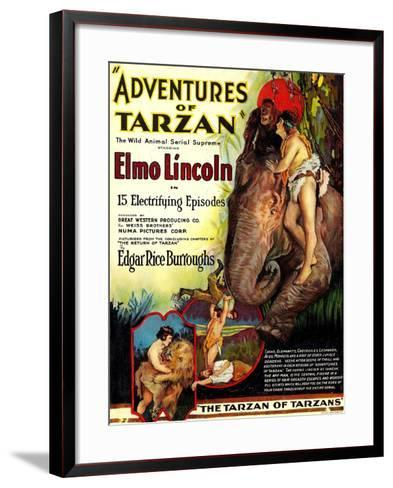 Adventures of Tarzan, Elmo Lincoln, 1921--Framed Art Print