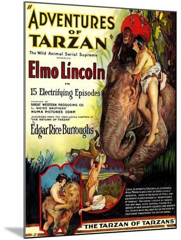 Adventures of Tarzan, Elmo Lincoln, 1921--Mounted Art Print