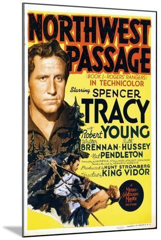 NORTHWEST PASSAGE, left: Spencer Tracy on midget window card, 1940--Mounted Art Print