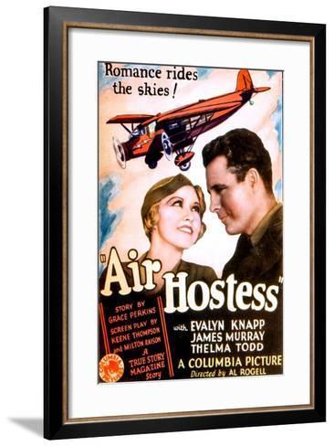 Air Hostess, Evalyn Knapp, James Murray, 1933--Framed Art Print