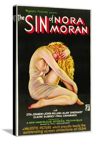 THE SIN OF NORA MORAN, poster art, 1933--Stretched Canvas Print