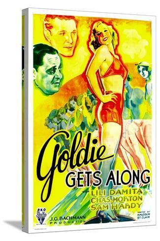GOLDIE GETS ALONG, right: Lili Damita, 1933.--Stretched Canvas Print