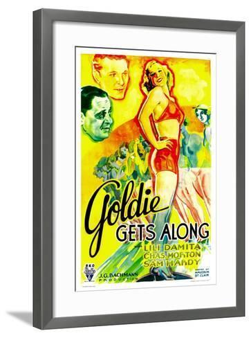 GOLDIE GETS ALONG, right: Lili Damita, 1933.--Framed Art Print
