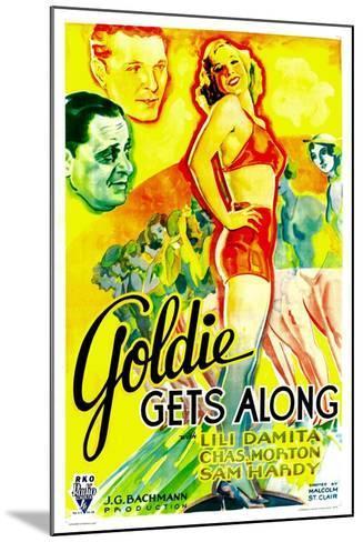 GOLDIE GETS ALONG, right: Lili Damita, 1933.--Mounted Art Print