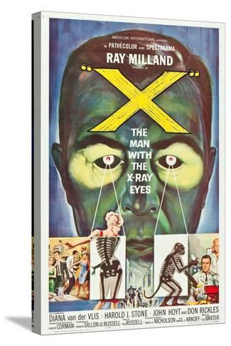 The Man With the X-Ray Eyes, poster art, 1963--Stretched Canvas Print