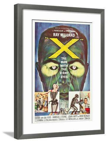 The Man With the X-Ray Eyes, poster art, 1963--Framed Art Print