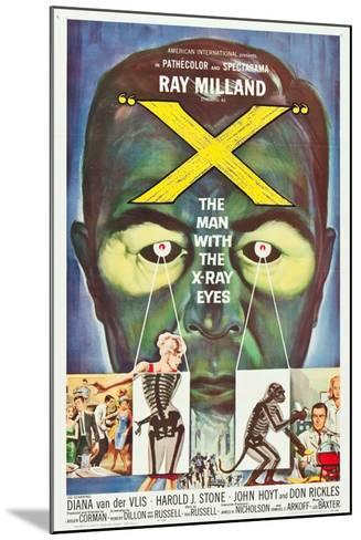 The Man With the X-Ray Eyes, poster art, 1963--Mounted Art Print