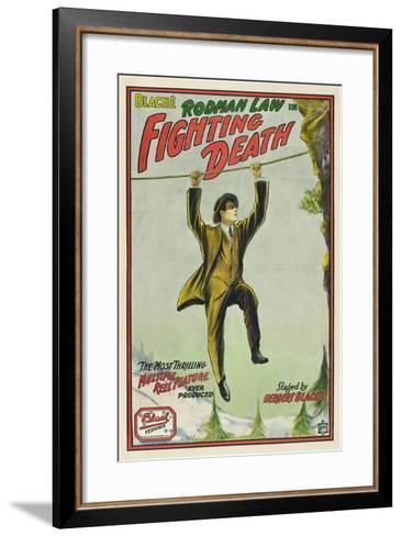 Fighting Death, Rodman Law, 1914--Framed Art Print
