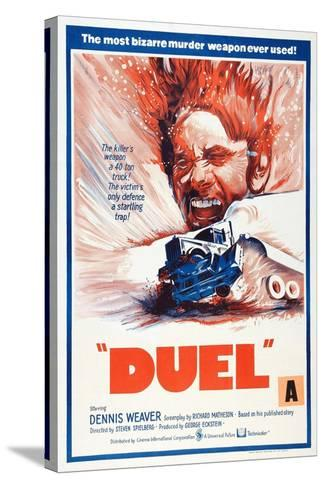 Duel, New Zealand poster, Dennis Weaver, 1971--Stretched Canvas Print