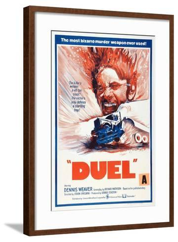 Duel, New Zealand poster, Dennis Weaver, 1971--Framed Art Print