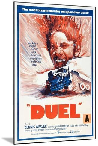 Duel, New Zealand poster, Dennis Weaver, 1971--Mounted Art Print
