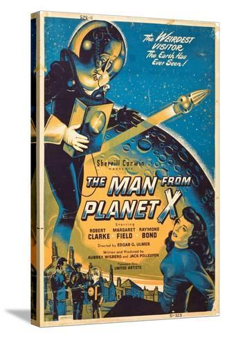 The Man From The Planet X, Pat Goldin, Margaret Field, 1951--Stretched Canvas Print
