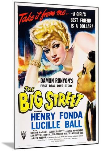 THE BIG STREET, top: Lucille Ball, right: Henry Fonda, 1942.--Mounted Art Print