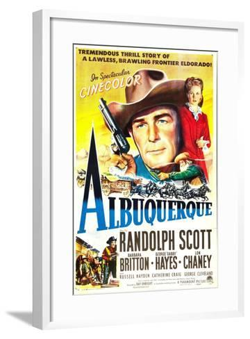 Albuquerque, Randolph Scott, Barbara Britton, 1948--Framed Art Print