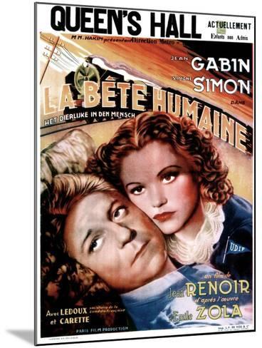LA BETE HUMAINE, French poster, from left: Jean Gabin, Simone Simon, 1938.--Mounted Art Print