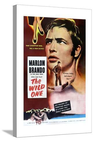 The Wild One, Marlon Brando, 1953--Stretched Canvas Print