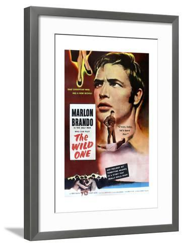 The Wild One, Marlon Brando, 1953--Framed Art Print