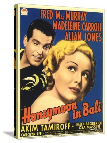 Honeymoon in Bali, Fred MacMurray, Madeleine Carroll, 1939--Stretched Canvas Print
