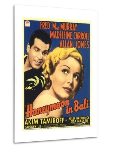 Honeymoon in Bali, Fred MacMurray, Madeleine Carroll, 1939--Metal Print