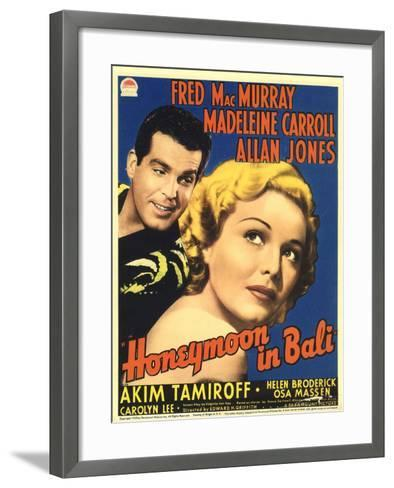 Honeymoon in Bali, Fred MacMurray, Madeleine Carroll, 1939--Framed Art Print