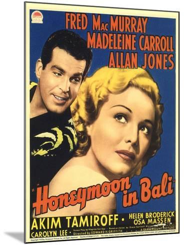 Honeymoon in Bali, Fred MacMurray, Madeleine Carroll, 1939--Mounted Art Print