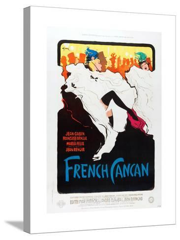 French Can Can, poster art, 1955--Stretched Canvas Print